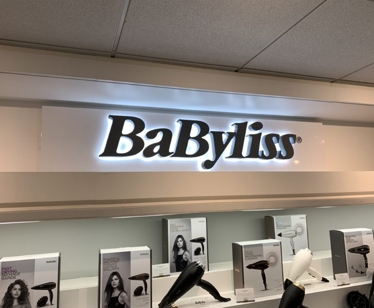 babyliss paris enseigne LED
