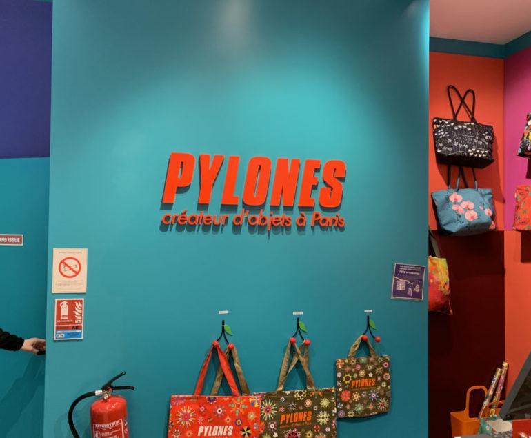 enseigne magasin Pylones centre commercial paris beaugrenelle